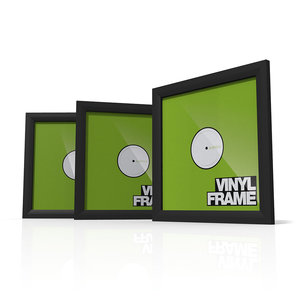 Glorious Vinyl Frame Set 12'' Black lijst voor platen (3 stuks)
