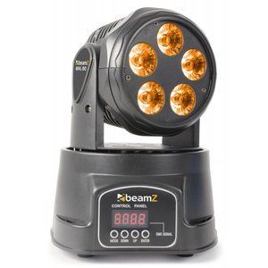 Beamz MHL90 Mini wash LED moving-head 5x 18W RGBAW-UV
