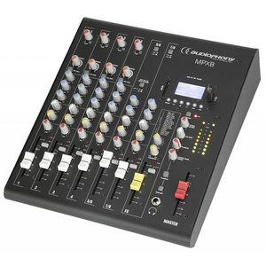 Audiophony MPX8 8-kanaals PA mixer en mediaspeler