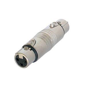 Neutrik NA3FF XLR female naar XLR female adapter