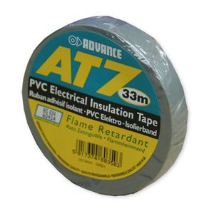 Advance AT7 PVC Tape 50mm 33m grijs