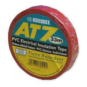 Advance AT7 PVC tape 15mm 33m rood