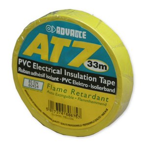 Advance AT7 PVC tape 15mm 33m geel