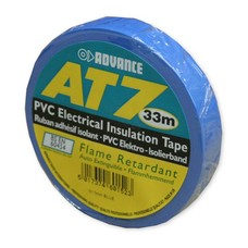 Advance AT7 PVC tape 15mm 33m blauw