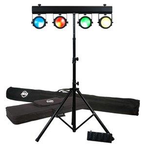 American DJ Dotz Tpar System lichtset met 4x RGB LED-par, statief, tas en voetcontroller