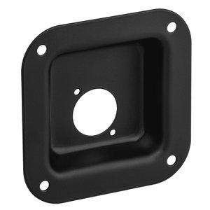 Adam Hall 87081 BLK D-size inbouwschotel zwart