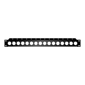 Audio Metalz Rackpaneel 16x D-hole 1 HE