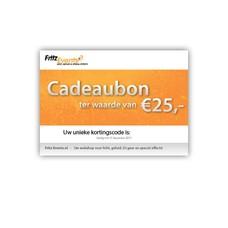 Fritz-Events Cadeaubon 25 euro