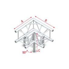 Showtec DQ22 Decotruss 012 3-weg hoek 90g