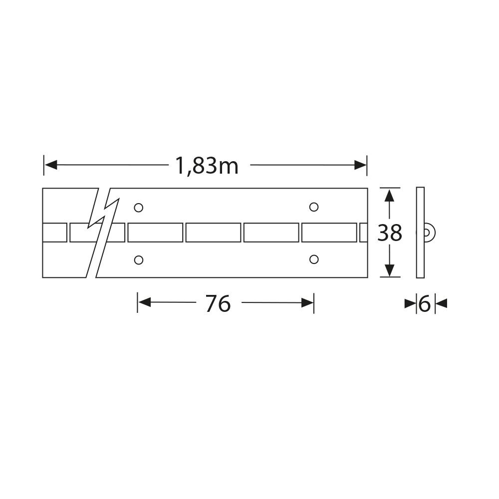 Geliefde Adam Hall 2605 Pianoscharnier 38mm x 100cm kopen? | Fritz-Events HM41