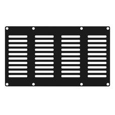 Caymon CASY402/B ventilatieplaatje 4 space