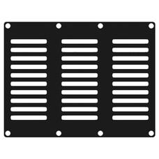 Caymon CASY302/B ventilatieplaatje 3 space