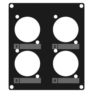 Caymon CASY203/B 4x D-size plaatje 2 space