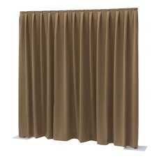 Showtec Pipe and drape Dimout 400x300cm geplooid bruin