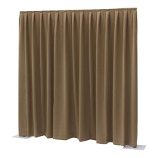 Showtec Pipe and drape Dimout 300x300cm geplooid bruin
