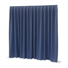 Showtec Pipe and drape Dimout 300x300cm geplooid blauw