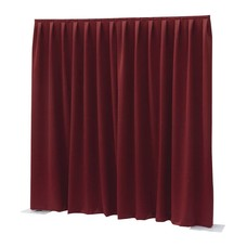 Showtec Pipe and drape Dimout 300x300cm geplooid rood