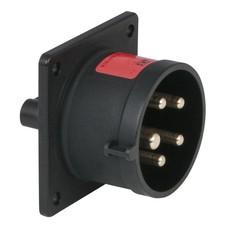PCE CEE 16A 5-polige inbouw socket male zwart