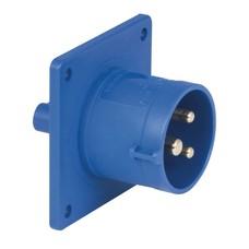 PCE CEE 16A 3-polige inbouw socket male blauw