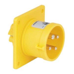 PCE CEE 16A 4-polige inbouw socket male geel