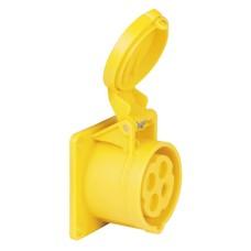 PCE CEE 16A 4-polige inbouw socket female geel