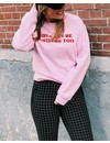 Customized sweater - Curvy font