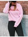 Customized sweater - Curvy font