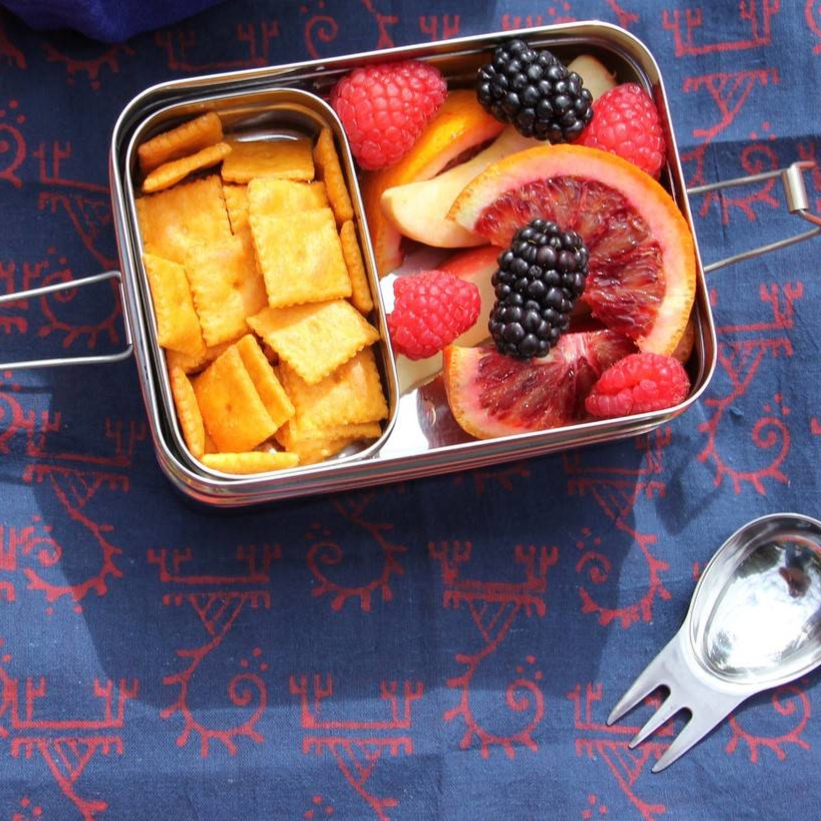 ECOlunchbox RVS Spork, een lepel en vork inéén