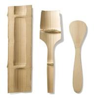 Spatel van biologische bamboe