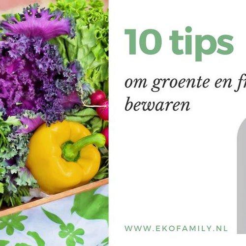 Hoe bewaar je het beste groente en fruit: 10 tips
