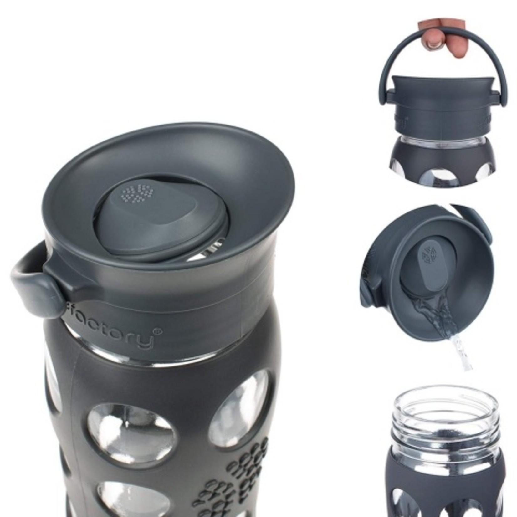 Lifefactory Café Espresso glazen drinkfles