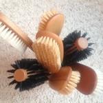 Houten haarborstels