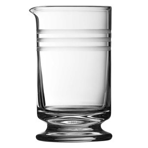 Urban Bar Calabrese Footed Mixing Glass with 3 Cuts