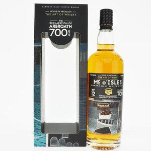 House Of Mccallum Mc O'isles The Declaration Of Arbroath 12 Year Old Blended Malt Scotch Whisky