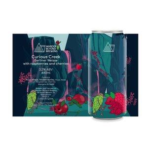 Wander Beyond Brewing Curious Creek - Berliner Weisse with Raspberry and Cherries