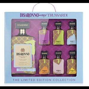Disaronno Disaronno Wears Trussardi 28% 70cl Giftpack met 6x5cl Mini's