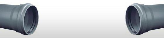 PVC afvoerbuis SN4 met manchetmof grijs