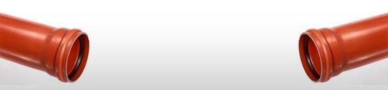 PVC afvoerbuis SN8 bruin met manchetmof