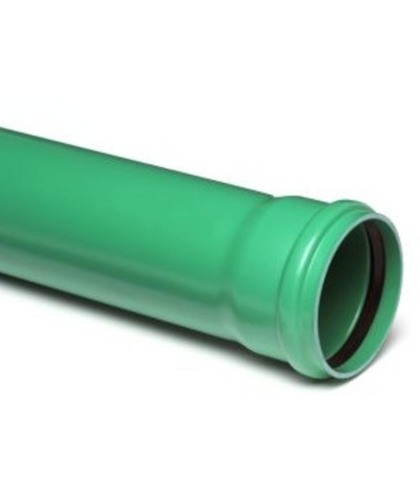PVC afvoerbuis Ø 125mm SN8 groen met manchetmof