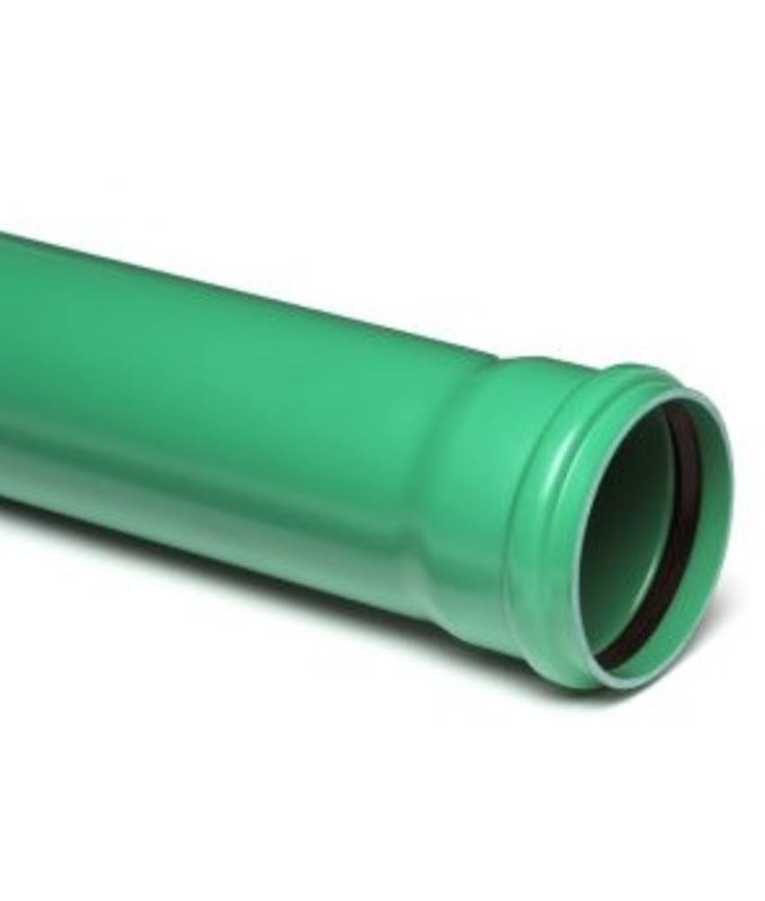 PVC afvoerbuis Ø 160mm SN8 groen met manchetmof