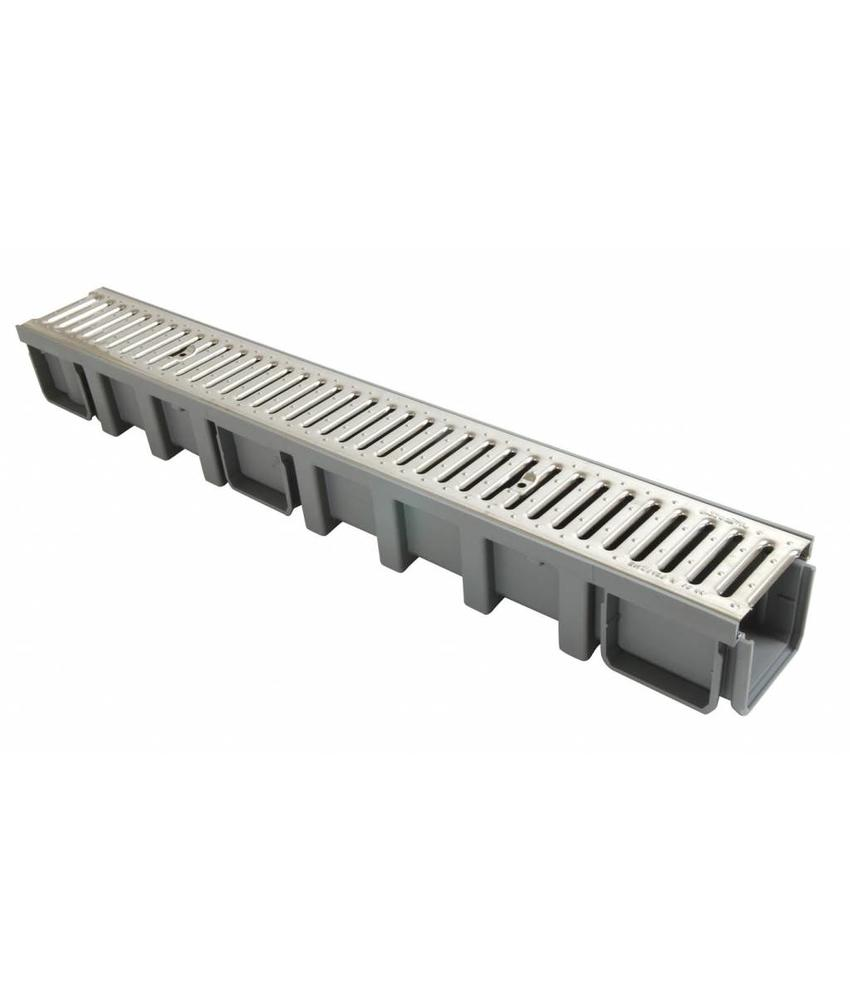 Nicoll Connecto 100 lijngoot met RVS sleufrooster 100 x 6 cm hoog