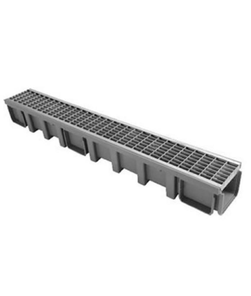 Nicoll Connecto 100 lijngoot met RVS maasrooster 100 x 11,5 cm