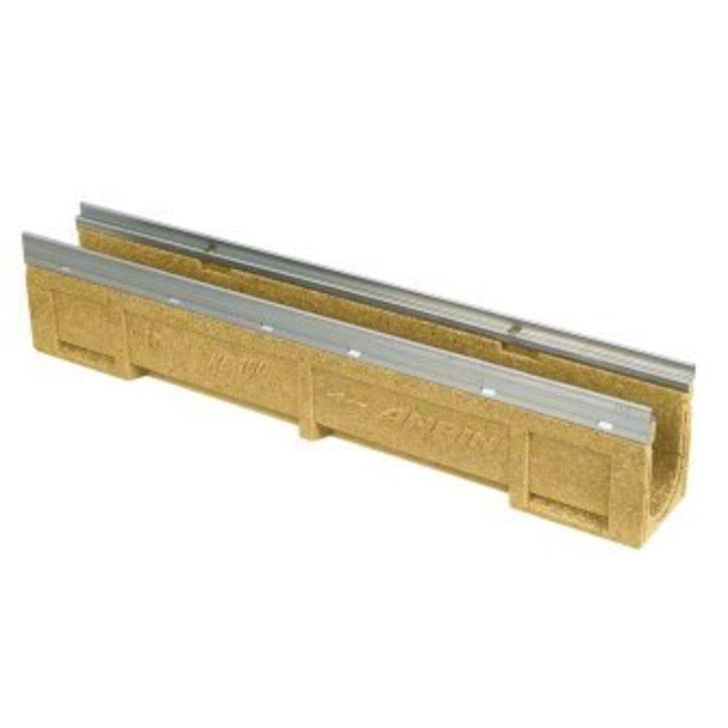 Anrin lijngoot KE-100 polyesterbeton zonder rooster 100 x 15 cm