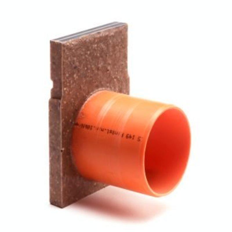 Anrin polyesterbeton eindstuk incl. uitloop voor KE-100 lijngoot  H= 20 cm