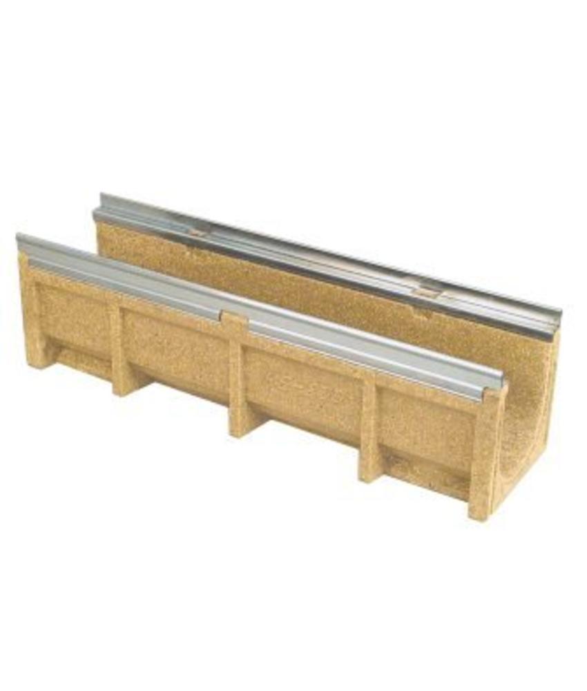 Anrin lijngoot KE-200 polyesterbeton zonder rooster 100 x 29 cm