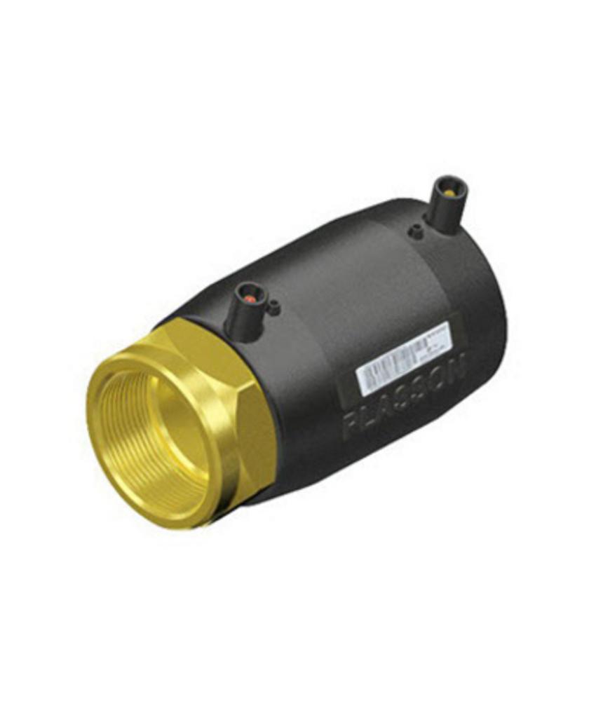 "Plasson Elektrolas overgangskoppeling 40 mm x 1¼"" - spie x messing bi.dr."