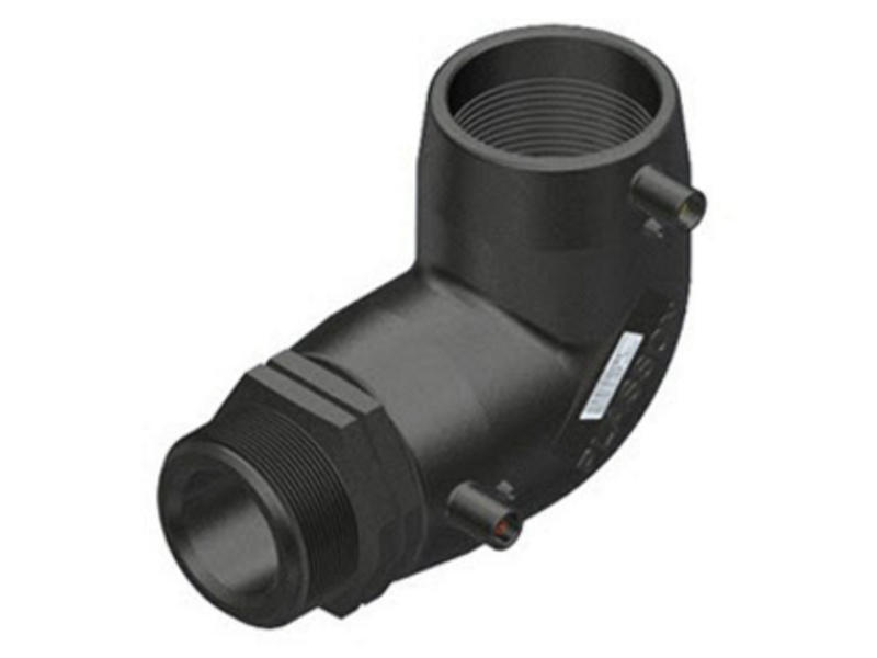 "Plasson Elektrolas overgangsknie 40 mm x 1"" - 90° voor water bu.dr."