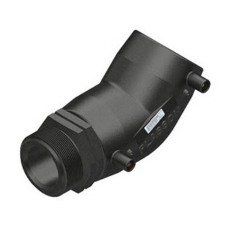 "Plasson Elektrolas overgangsknie 40 mm x 1"" - 45° voor water bu.dr."