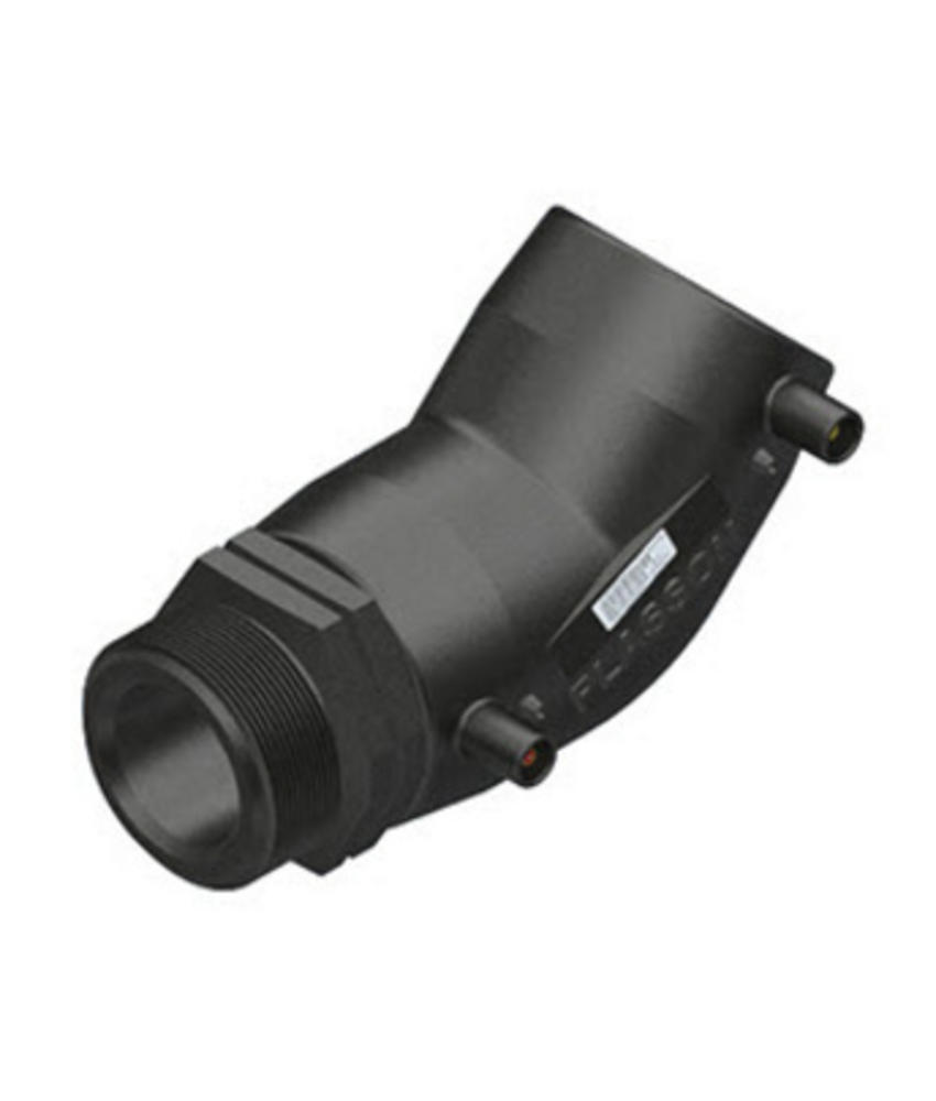 "Plasson Elektrolas overgangsknie 40 mm x 1½"" - 45° voor water bu.dr."
