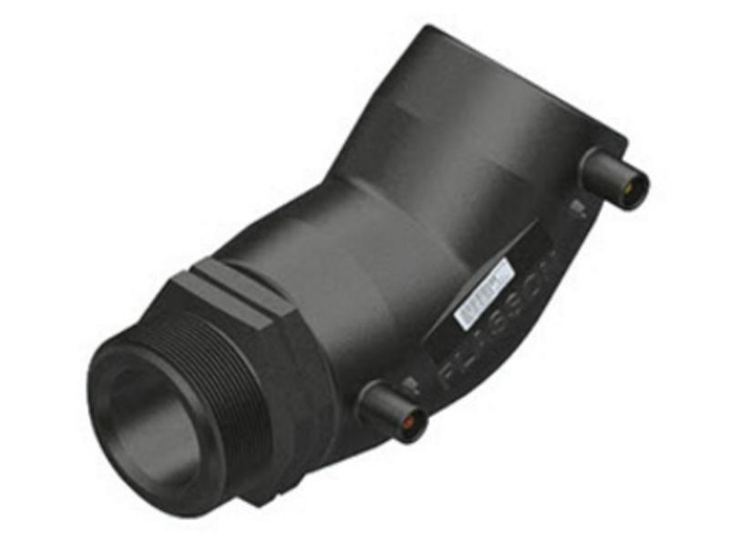 "Plasson Elektrolas overgangsknie 40 mm x 1¼"" - 45° voor water bu.dr."
